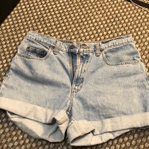 Levi's highwaisted pants- cut into shorts